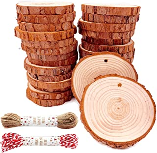 "Unfinished Natural Wood Slices 30 Pcs 2.4""-2.8"" Inch Wood coaster pieces Craft.."