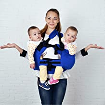 Malishastik Blue Baby Carrier Twins, Baby Carrier for Twins, Twin Carrier, Twin Baby Carrier, Baby Twins, Twins Carrier