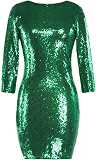 long sleeve sequin homecoming dresses