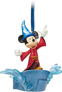 Disney Sorcerer Mickey Mouse Light Up Living Magic Sketchbook Ornament - Fantasia