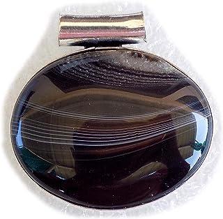 Botswana Agate Pendant, Silver Plated Brass Pendant, Handmade Pendant, Gift Jewelry, Women Jewellry, Fashion Jewellry, BRS...