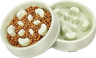 UPSKY Slow Feeder Dog Bowl Fun Feeder No Chocking Slow Feeder Bloat Stop Dog Cat Food Water Bowl with Funny Pattern (Set o...