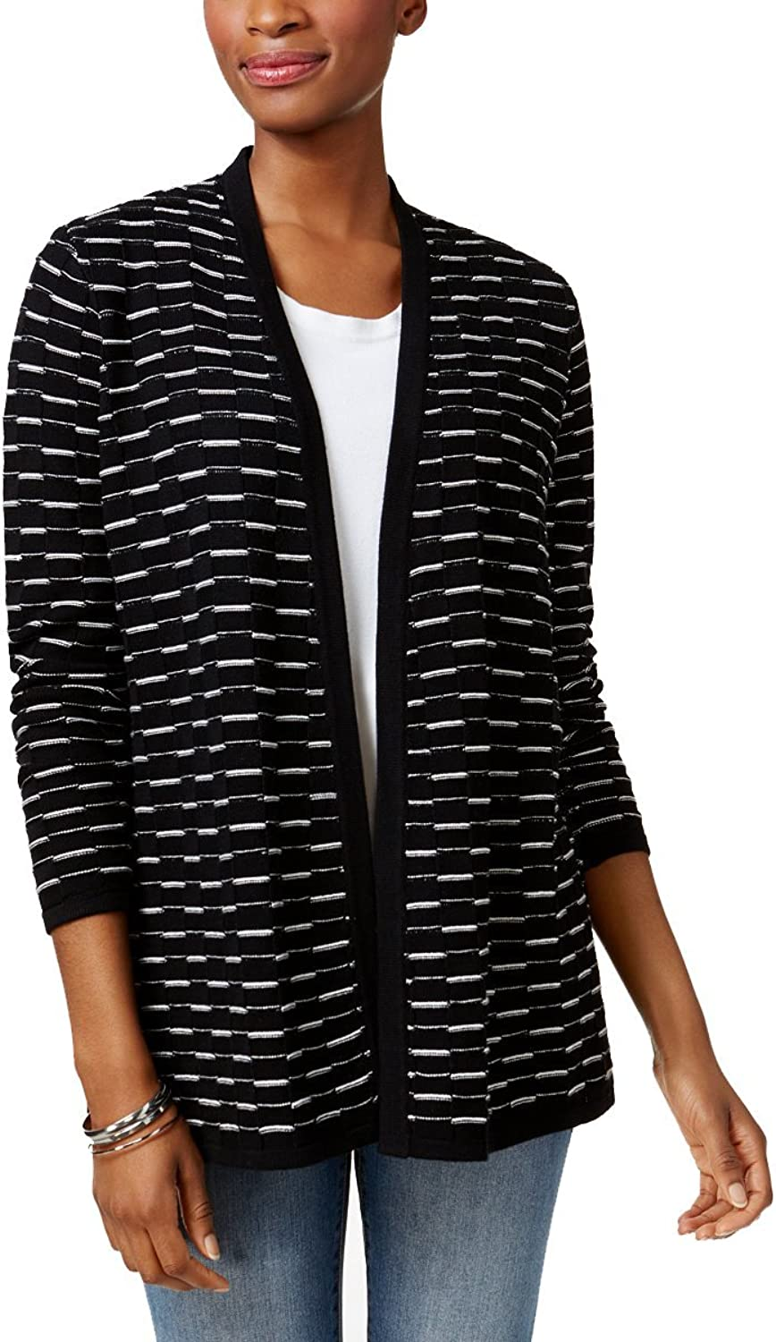 Charter Club Patterned OpenFront Cardigan