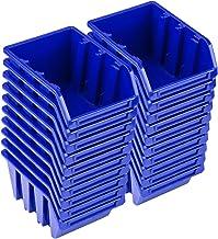 PAFEN Set de 20 cajas apilables NP4, color azul