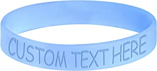 Body Candy Customizable Light Blue Silicone Style 2 Stretch Personalized Message Bracelet