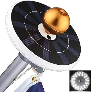 Solar Flag Pole Lights 32 LED Solar Powered Flagpole Lighting Night Light Kit for 15 to 25 Ft Top (Built-in Li-ion Battery)