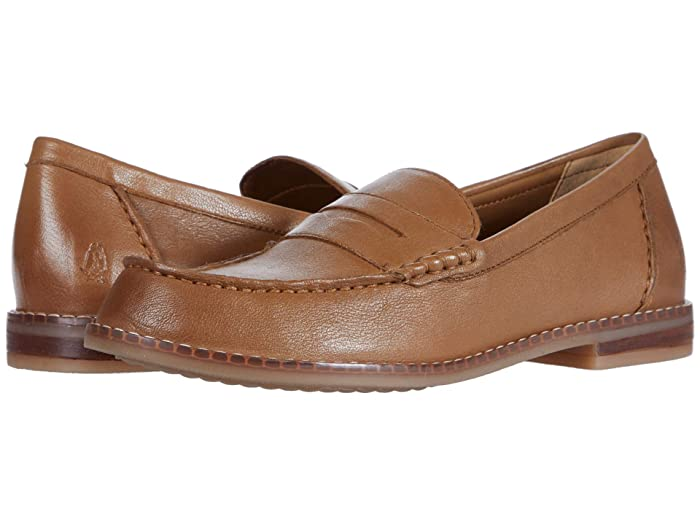 80s Shoes, Sneakers, Jelly flats Hush Puppies Wren Loafer PF Tan Leather Womens Shoes $69.95 AT vintagedancer.com