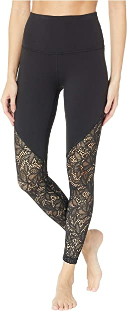Lace Way High-Waisted Midi Leggings