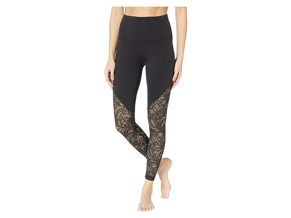 Beyond Yoga Lace Way High-Waisted Midi Leggings (Jet Black 2) Women