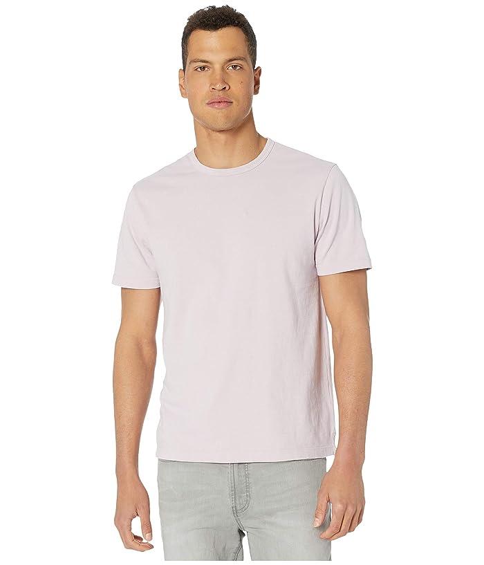Vince  Garment Dye Short Sleeve Crew (Washed Violet Ice) Mens Clothing