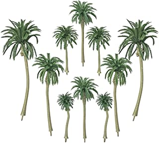 PROPARTY 20 PCS Artificial Coconut Palm Trees Cake Cupcake Toppers Model for Diorama Scenery Party Decorations 5 Sizes
