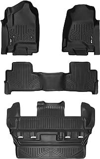 SMARTLINER Custom Fit Floor Mats 3 Row Liner Set Black for 2015-2019 Chevrolet Tahoe/GMC Yukon