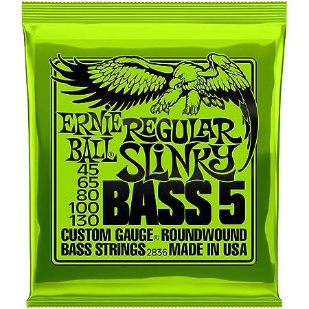 Ernie Ball Slinky Jeu de cordes pour guitare basse Regular Slinky 5-string 045-130