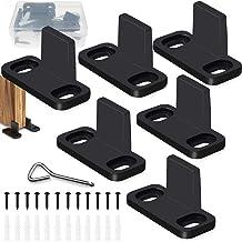 GZLCEU 6 stuks vloergeleider, schuifdeurgeleiding voor schuifdeur, accessoires, instelbare bodemhouder, vloerdeurgeleiding...