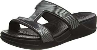 Crocs Monterey Metallic Slip-On Wedge Femme