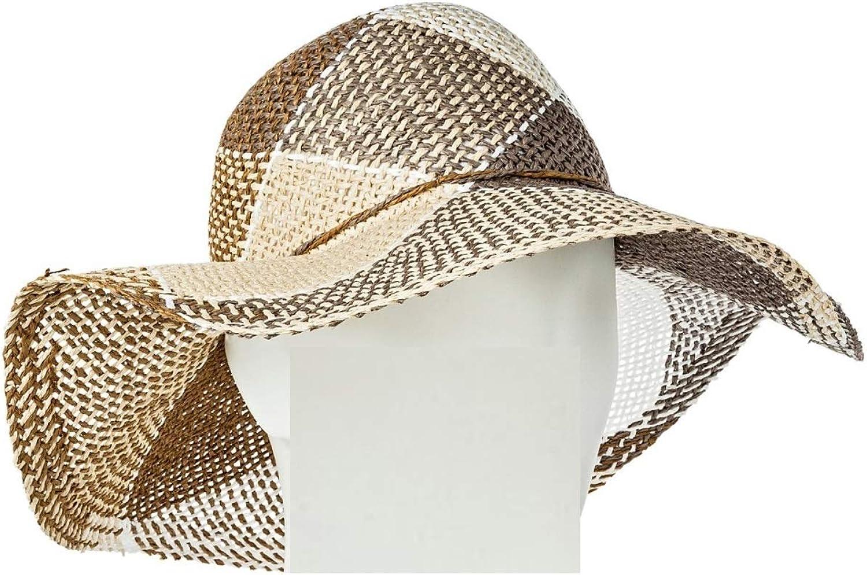 Masked Brand Women's Floppy Hat Tan Plaid by Merona