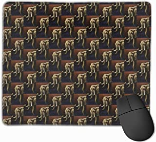 Non-Slip Mousepad Lovely Elephant Named Future Primitive Gaming Mouse Pad with Non-Slip Rubber Base, Durable Stitched Edges