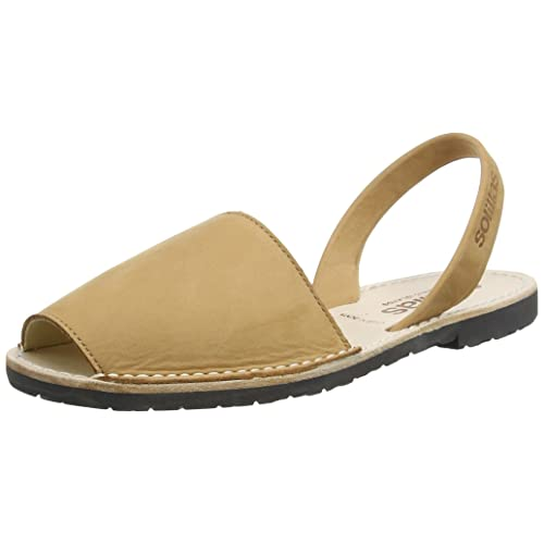 4de125dc245b Solillas Original Women s Menorcan Sandals - Tan Nubuck Leather