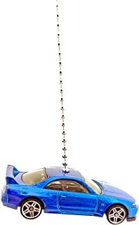 Hot Wheels Nissan Car Ceiling Fan Light Pull Ornament 1:64 - (Nissan Skyline GT-R (R33) BLUE)