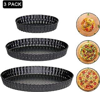 TaoToa Bandeja para Hornear Pizza Antiadherente de Acero Al Carbono 32Cm Soporte para Platos de Plato de Pizza Utensilios para Hornear Hogar Cocina Herramientas para Hornear Accesorios
