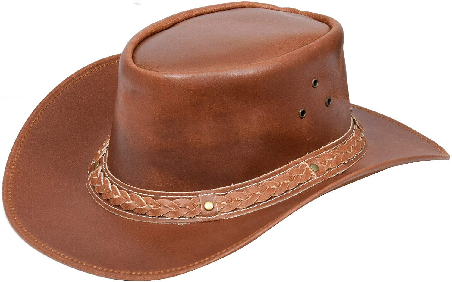 Australian Tan Western Style Cowboy Leather Real Aussie Sale Inventory cleanup selling sale Special Price Outback