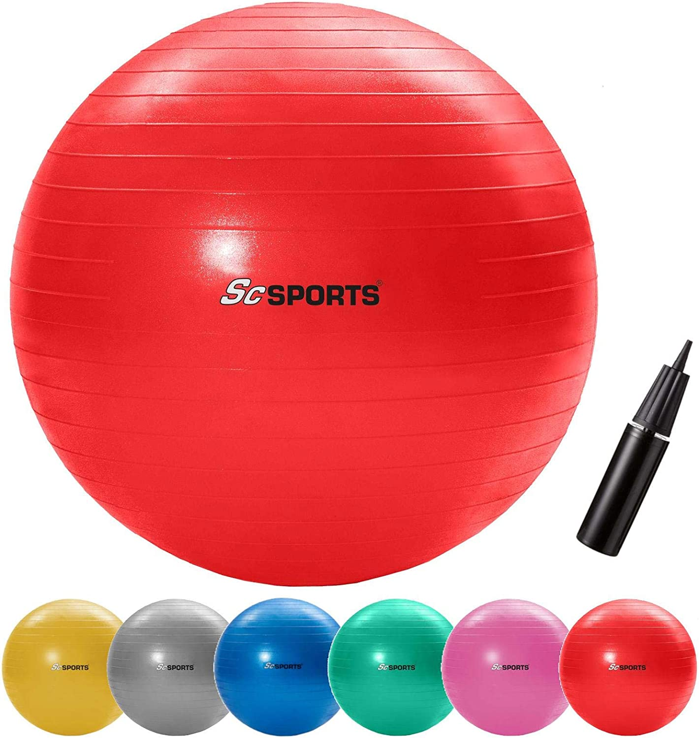 ScSPORTS Exercise Ball 65 CM, Red, 10000396