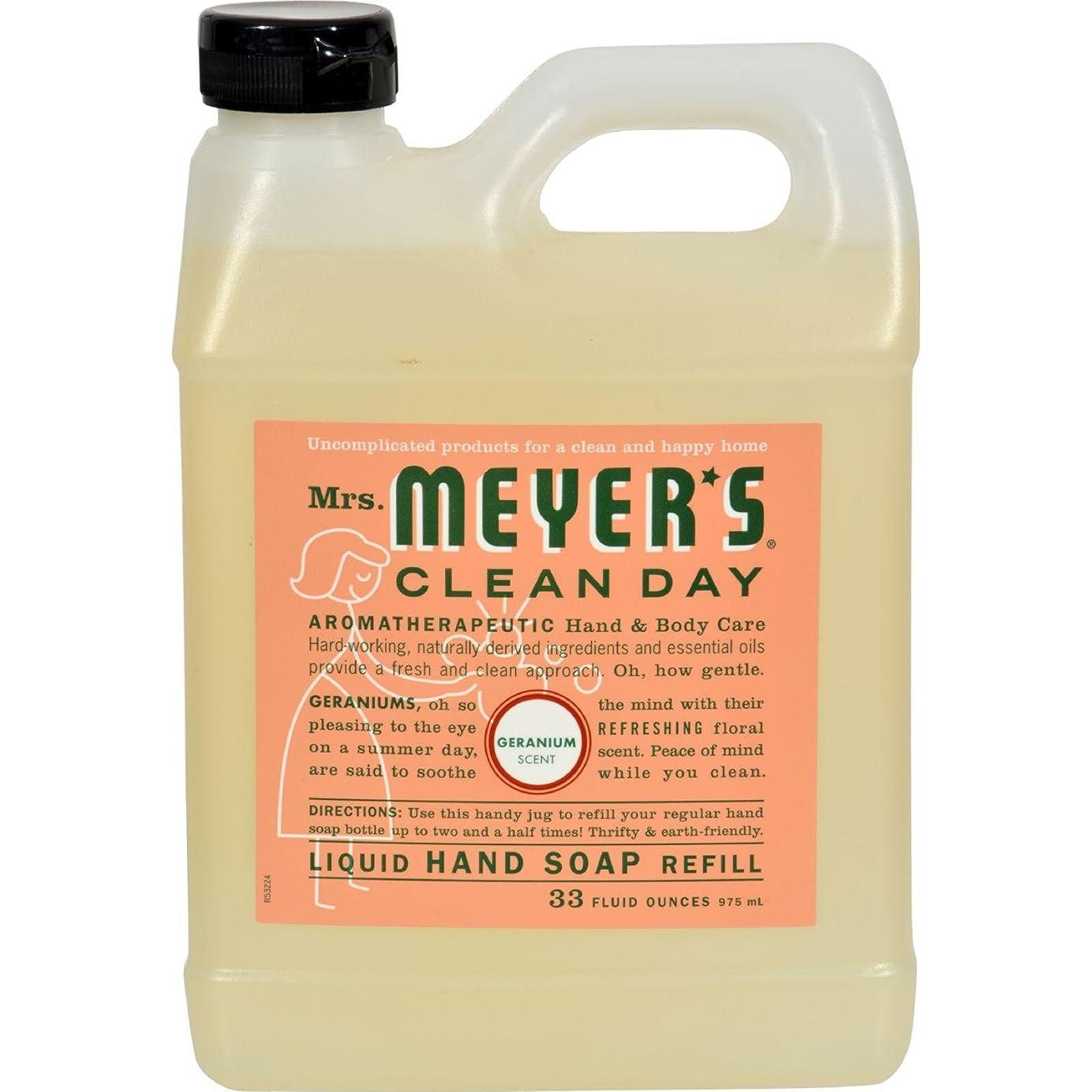家具真実に便益MRS. MEYER'S HAND SOAP,LIQ,REFL,GERANM, 33 FZ by Mrs. Meyers