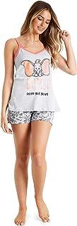 Dumbo Pijamas Mujer, Conjunto 2 Piezas Camiseta Tirantes y Shorts, Pijama Mujer de Algodon, Merchandising Oficial Regalos para Mujer y Adolescentes