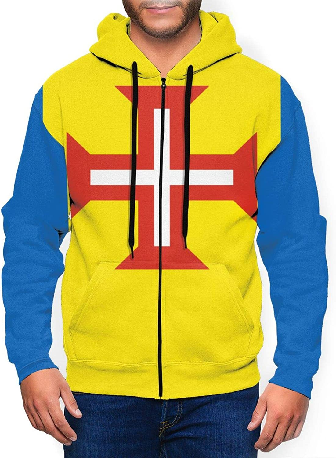 Hello Gorgeous Men'S Hoodie Flag Max 72% OFF Of Up NEW Fit Madeira Slim Swea Zip