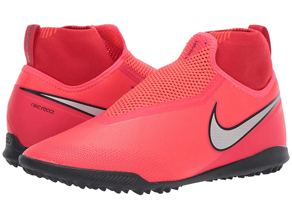 Nike React Phantom VSN Pro DF TF (Bright Crimson/Metallic Silver) Men's Soccer Shoes