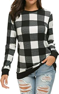 LAINAB Womens Long Sleeve Loose Casual Tunic Pullover Sweatshirt Tops