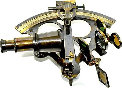 Vintage Ship Brass Sextant Astrolabe Maritime Nautical Navy Marine Sextant Decor Maritime