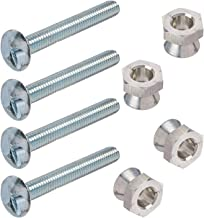 4 Sign Mounting Hardware One-Way Security Bolt with 4 Breakaway Security Nut 5/16-18 X 2
