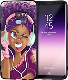 Samsung Galaxy S8 Plus Case African American Afro Girls Women Slim Fit Shockproof Bumper Cell Phone Accessories Thin Soft Black TPU Protective Samsung Galaxy S8 Plus Cases (16)