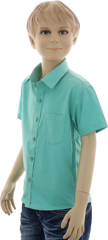 f/ácil de planchar, talla 86-158 GILLSONZ A0 Camisa corta para ni/ños