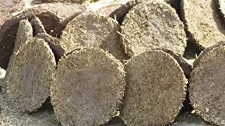 """AsiaCraft 24 PCs Pure Cow Dung Cakes (Gobar Upla) for Hawan and Indian Rituals, Dia 8"""""""