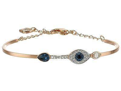 Swarovski Duo Bangle Evil Eye Bracelet (Blue) Bracelet