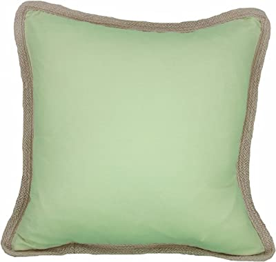 Amazon.com: Manor Luxe Square Classic Yute Trimmed Color ...