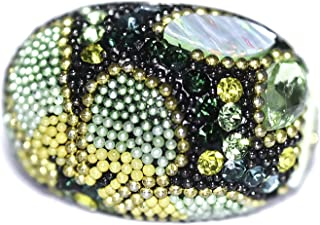 .925 Sterling Silver Ring, Bohemian style multicolor, Style 3