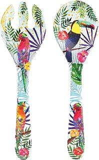 Les Jardins de la Comtesse – Couverts à salade en Mélamine Pure – Toucans de Rio – 33 cm – Multicolore - Service de Table ...