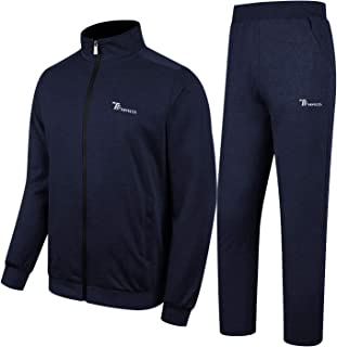 Rdruko Men's Athletic Casual Tracksuit 2 Piece Full Zip Jacket Sweatsuit Outfit Jogger Fleece Set