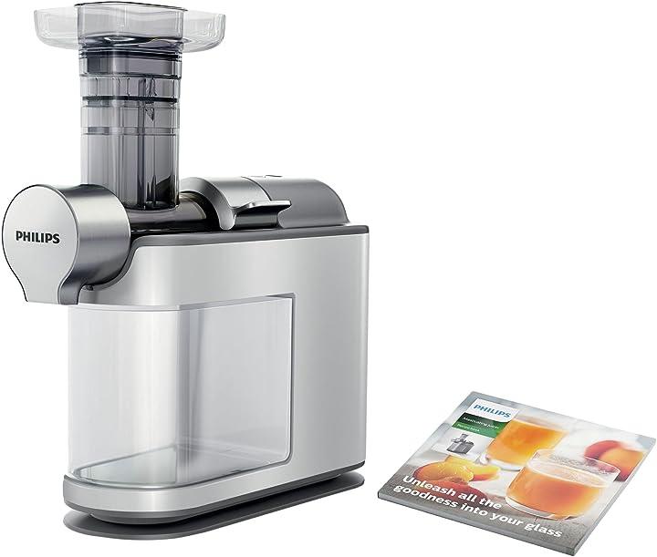 Estrattore di succo con tecnologia micro masticating philips hr1945/80 micro juicer