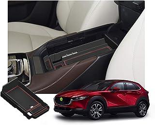 RUIYA CX 30 2019 2020 Mittelkonsole Aufbewahrungsbox Aufbewahrungskiste Veranstalter Armlehne Box Armlehne Organizer Auto Armlehne Aufbewahrungsbox Autozubehör (Rot)