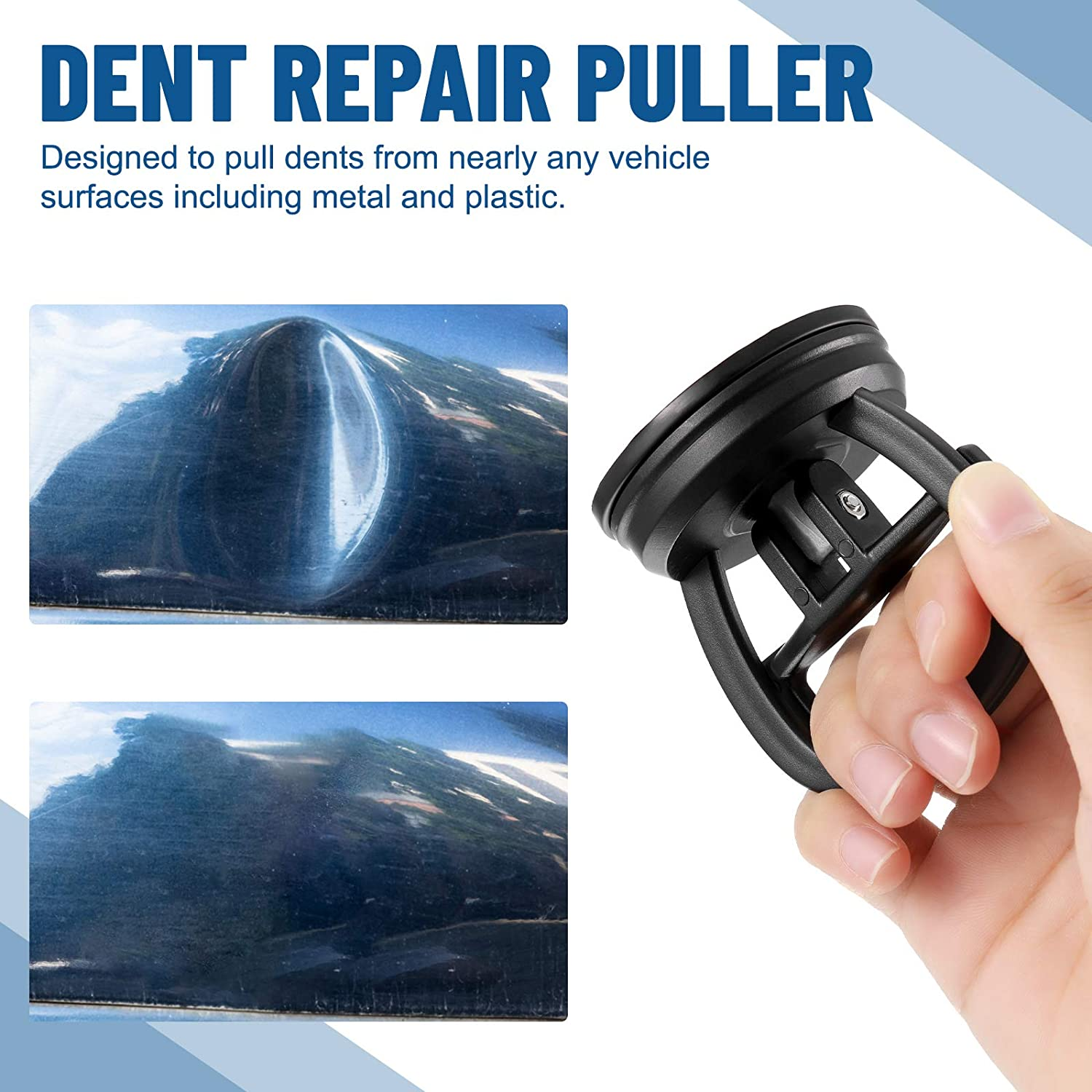 Dent Pullers Removers for Car Dent Repair Mirror Granite Lifting and Objects Moving Tiles Frienda 4 Pieces Car Dent Repair Tools Suction Cup Dent Pullers Car Dent Handle Lifters Glass Blue