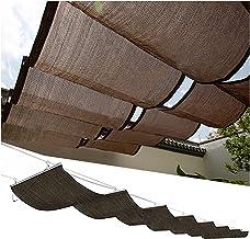 PENGFEI Intrekbare Pergola Luifel Schaduw Cover, Outdoor UV-Block Luifel, Uitschuifbaar Golfzeil voor Pergola Patio Achter...