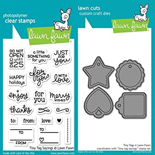 Lawn Fawn Clear Stamp & Die Set - Tiny Tag Sayings + Tiny Tags LF1222 & LF1223