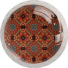 Vintage7 4 stks Glas Lade knop voor Thuis Keuken Kantoor Garderobe Kast Lade