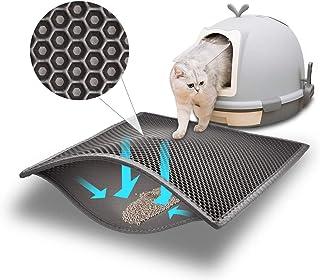 """Mumoo Bear Cat Litter Mat Litter Trapping Mat, 24""""X15"""" Honeycomb Double Layer Sifting Design Waterproof Urine Proof Mats, ..."""