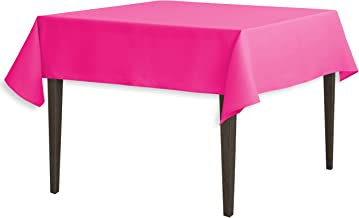 LinenTablecloth 54-Inch Square Polyester Tablecloth Fuchsia