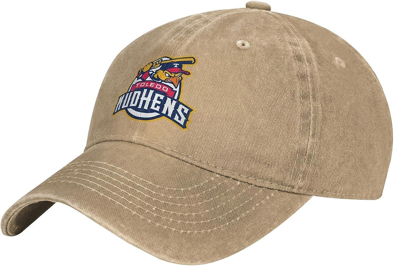 Vintage Cotton Washed Baseball Caps Men & Women, Toledo Mud Hens Team Logo Trucker Adjustable Snapback Hat